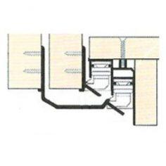 Barra de perfil inferior para porta de correr de roupeiro suspenso oculto