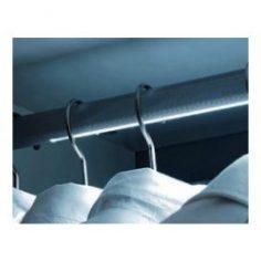 Varão de Roupeiro com fita de led com ou sem sensor