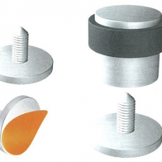 Batente de chão redondo base de colar inox