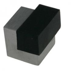 Batente de chão quadrado inox