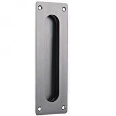 Concha de embutir rectangular com fixação à vista