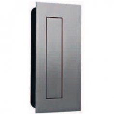 Concha de embutir quadrada/rectangular com tampa de mola