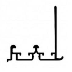 Perfil superior para porta de roupeiro suspenso oculto