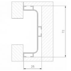Perfil puxador para portas de cozinha 672-08 C