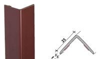 Perfil de cantoneira em PVC 25x25mm adesivo