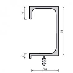 Perfil puxador para portas de cozinha G