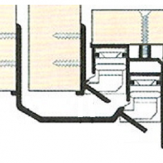 Perfil Inferior para porta de roupeiro suspenso oculto