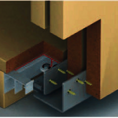 Carril inferior para portas de roupeiro suspenso silent
