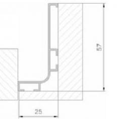Perfil puxador para portas de cozinha 672-08 J
