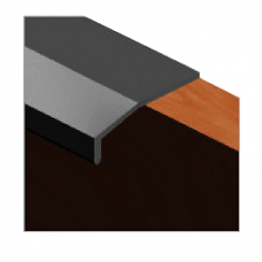 Perfil puxador vitrine para portas de cozinha curvo
