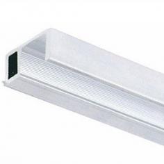 """Perfil 10mm remate U"""" portas de vidro/madeira com vista 10mm"""