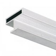 """Perfil 10mm remate """"H"""" portas de vidro/madeira com vista 10mm"""