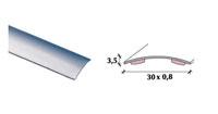 Perfil de transição em inox 35mm adesivo