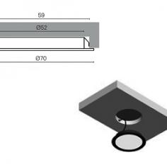 Projector de led redondo